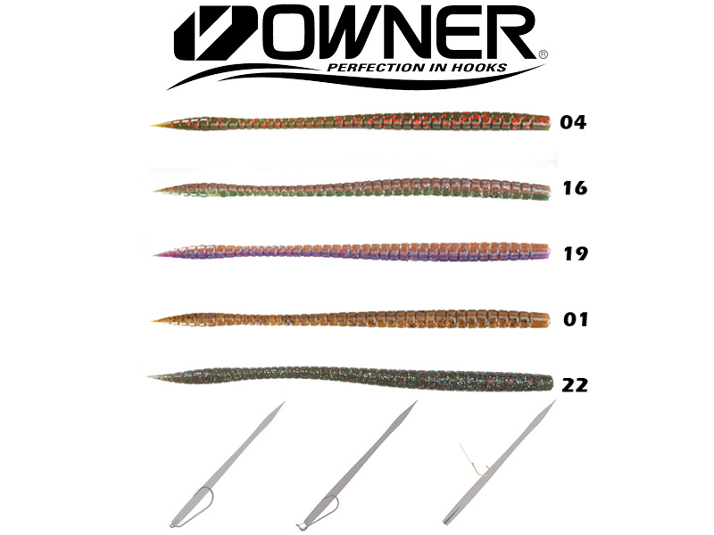 "Owner Shaky Worm SW160 (160mm, 6.5"", Colour:19)"