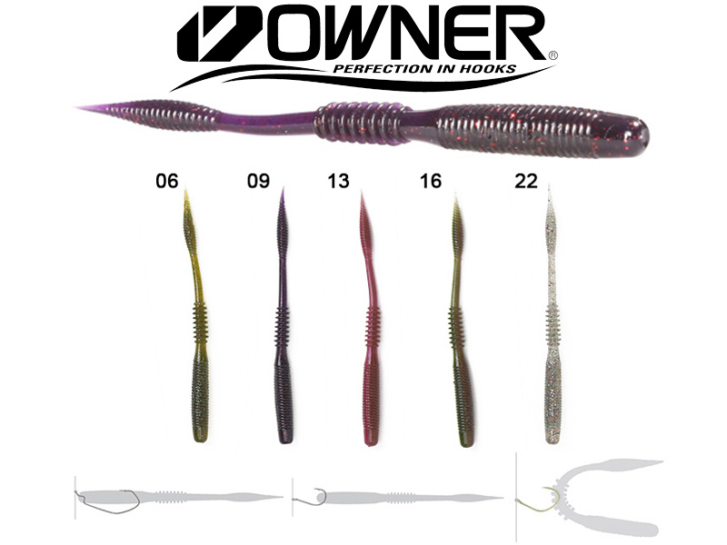 "Owner Shiver Tail STL-115 (115mm, 4.5"", Colour:06, 10pcs)"