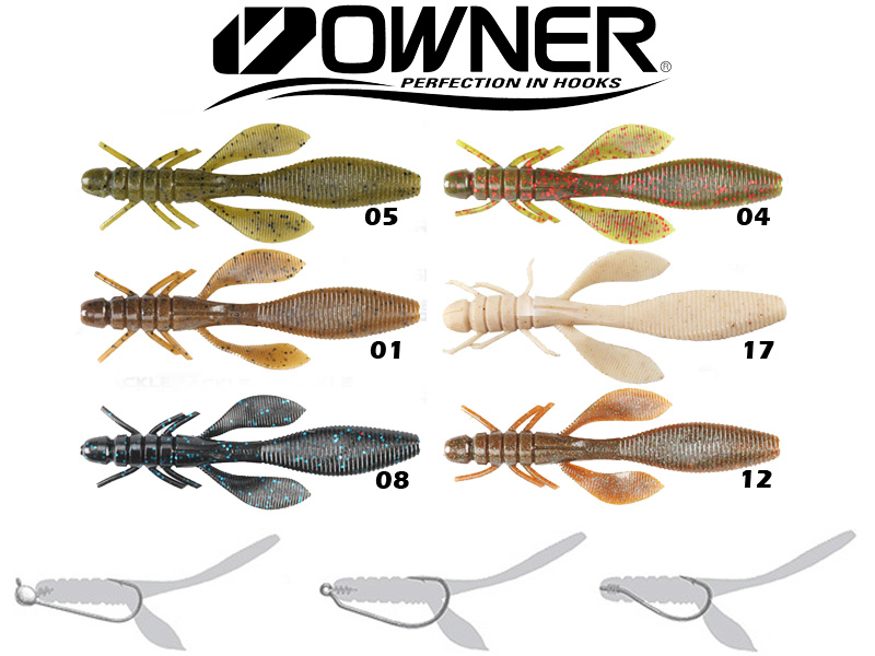 "Owner Yuki Bug Worm YB-110 (110mm, 4.3"", Colour:12)"