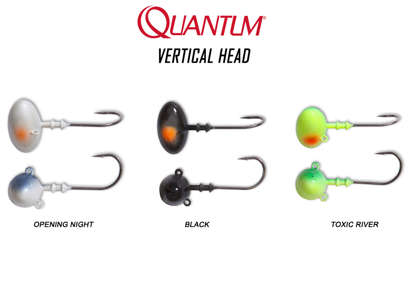 Quantum Vertical Head (Color: Black, Weight: 15gr, Hook Size: 2/0)
