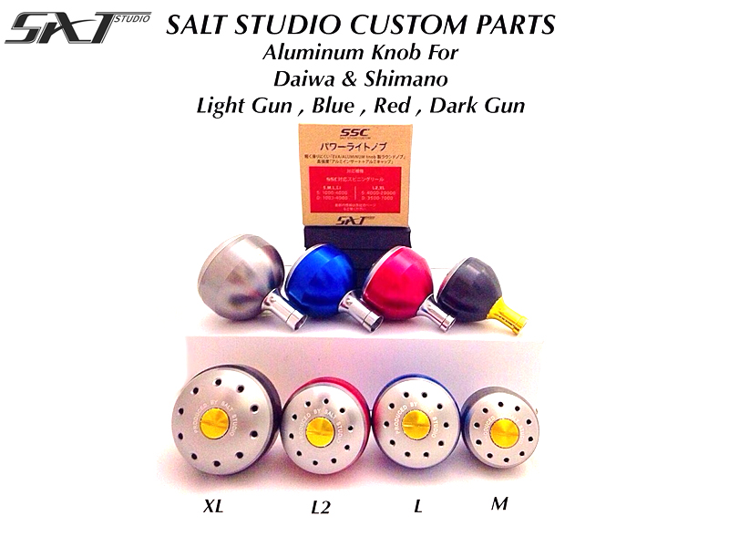 Salt Studio Aluminum Knob (Size: L, Color: Blue)