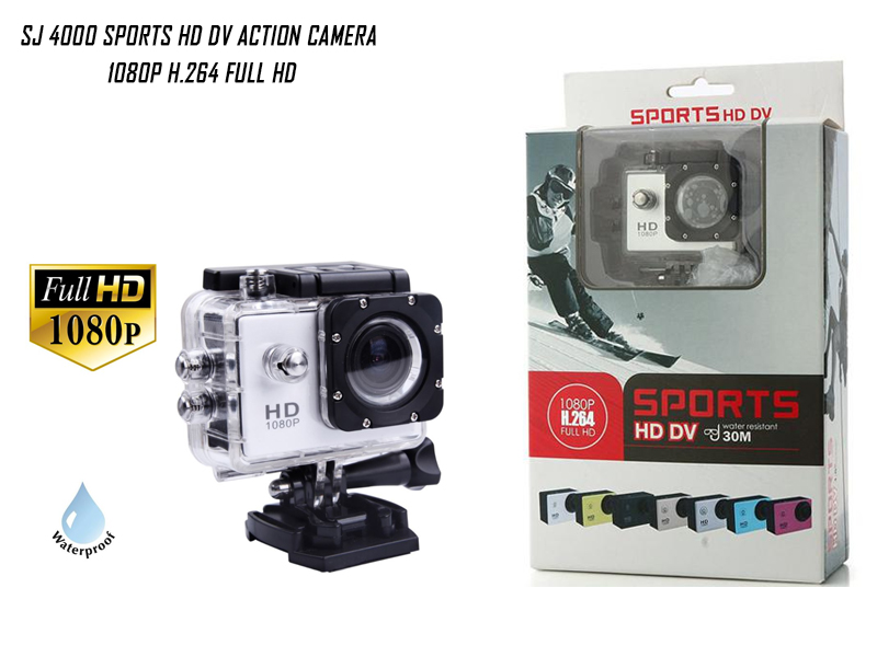 SJ 4000 Sports HD DV Action Waterproof Camera (Color: Blue)