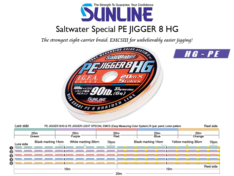 Sunline Saltwater Special PE Jigger 8 HG