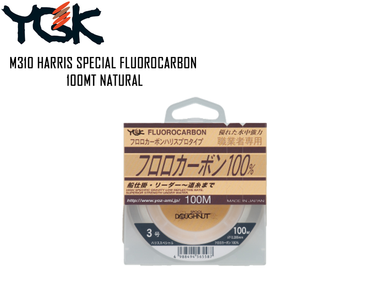 YGK M310 Harris Special Fluorocarbon Natural 100mt ( Size: 2.5G, Strength: 10lb, Diameter: 0.260mm)